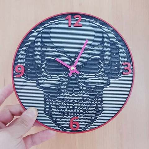 Download free 3D printing designs Reloj calavera, 3dlito