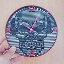 79ebd4552489855292f98254f1189d51_display_large.jpg Download free STL file Reloj calavera • 3D printer template, 3dlito