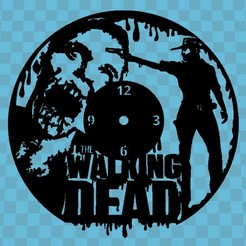 Download 3D printing templates THE WALKING DEAD CLOCK, 3dlito