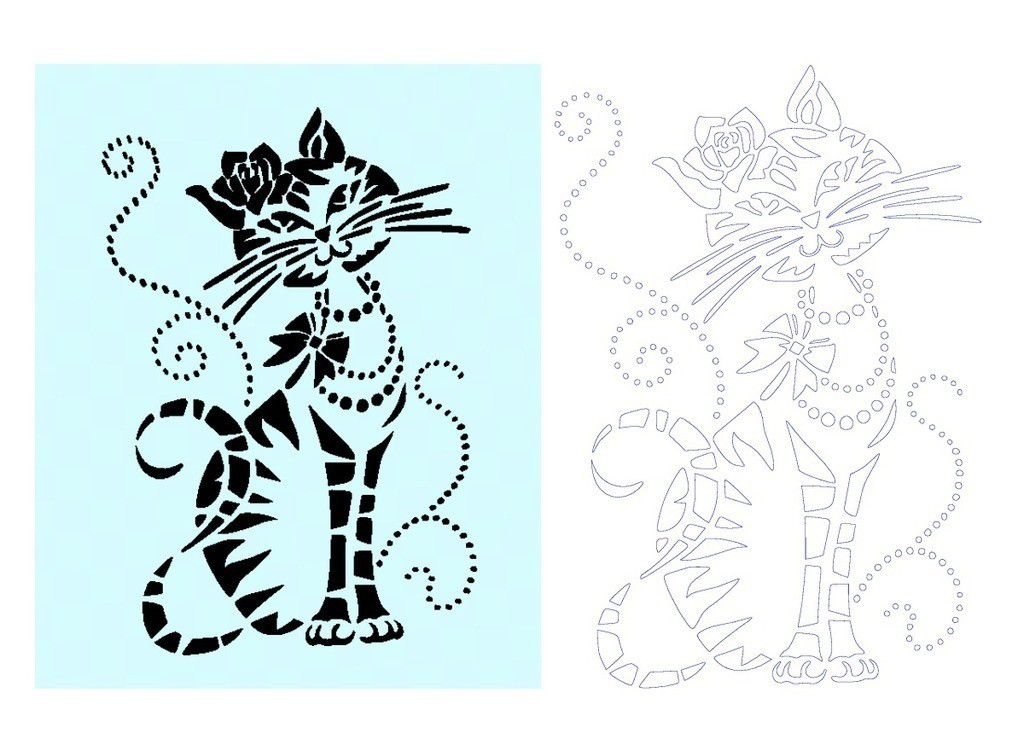111b3699da2a5fc518696611e31781f5_display_large.jpg Download free STL file Cat Stencil • Template to 3D print, 3dlito