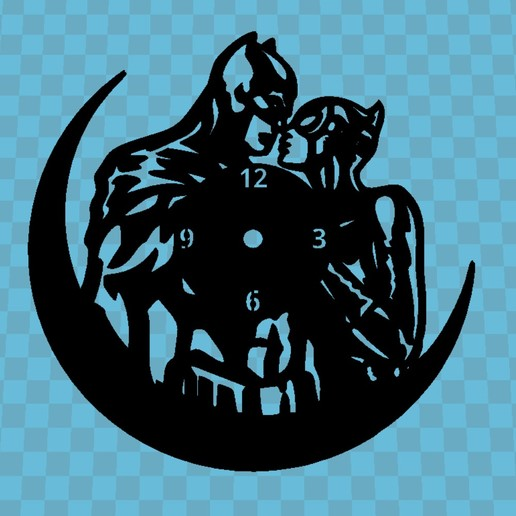 Download free 3D printing designs Batman Clock, 3dlito