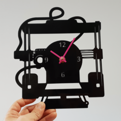 20200202_173925.png Download STL file RELOJ IMPRESORA 3D • 3D printable template, 3dlito