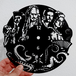 Download 3D printer templates Pirates of the Caribbean Clock, 3dlito