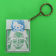 Free HELLO KITTY customizable frame lithophane 3D printer file, 3dlito