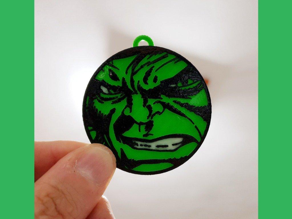 4f38848afd42f421074e169fc5f6c753_display_large.jpg Télécharger fichier STL gratuit Llavero Hulk • Plan pour imprimante 3D, 3dlito