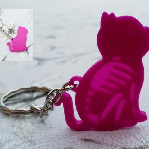 706d75b989af937b8f14b807358fe832_display_large.jpg Download free STL file Cat skeleton keychain lithophane • 3D printing object, 3dlito