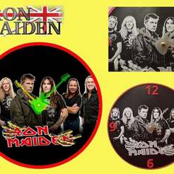 Download free 3D printer model Reloj Iron Maiden, 3dlito
