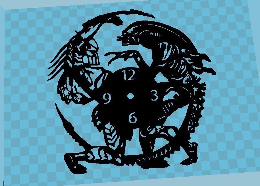 7b86ae8c7ff6d4e5eb679b1a0637d56a_display_large.jpg Download free STL file Reloj Alien vs. Predator • 3D print design, 3dlito