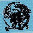 Descargar STL gratis Reloj Alien vs. Predator, 3dlito