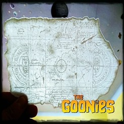 Free LITHOPHANE GOONIES MAP 3D model, 3dlito