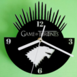 Download free 3D model Clock Game of Thrones, 3dlito