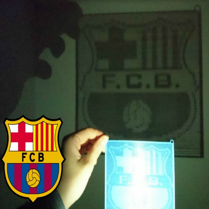 FotorCreatedFCB.jpg Download free STL file Halftone FC.BARCELONA • Object to 3D print, 3dlito