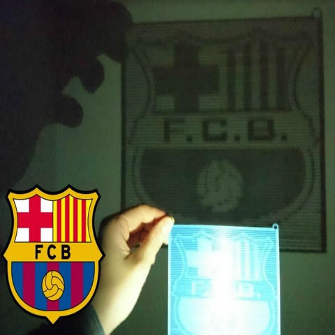Free 3D printer designs Halftone FC.BARCELONA, 3dlito