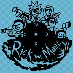 RICK AND MORTY.jpg Download STL file RICK AND MORTY WATCH v4 • 3D printing template, 3dlito