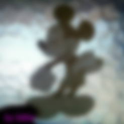 Free 3d printer designs Mickey mouse lithophane, 3dlito