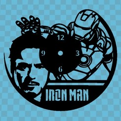 iron man.jpg Download STL file IRON MAN WATCH v2 • 3D printer template, 3dlito