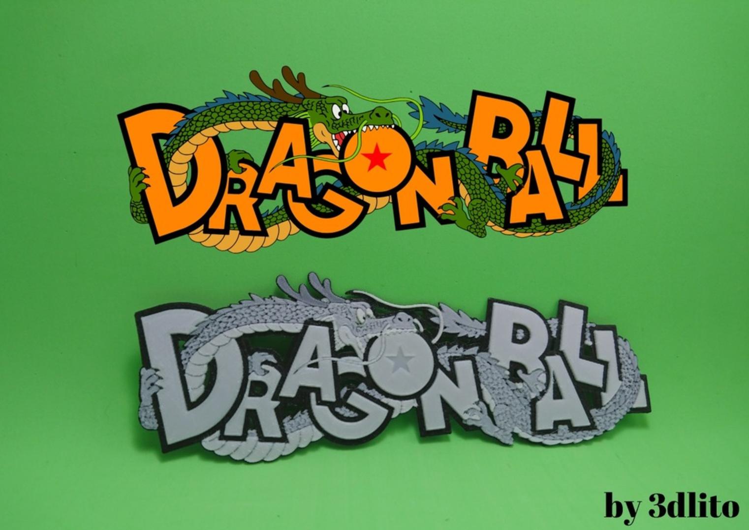 Capture d'écran 2017-07-18 à 14.36.35.png Download free STL file Dragon Ball 3D Logo • 3D printable object, 3dlito