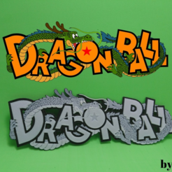 Free 3d print files Dragon Ball 3D Logo, 3dlito