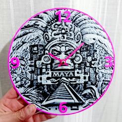 STL Mayan Clock, 3dlito
