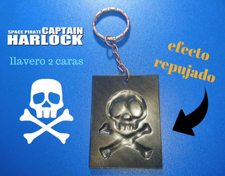 Emblem 3D Keychain Captain Harlock