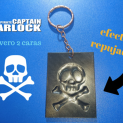 Download free 3D printer templates Key ring Captain Harlock (REPUJADO EFFECT), 3dlito