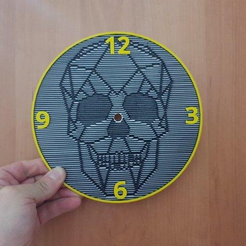 Télécharger fichier STL gratuit horloge murale crânienne • Objet pour imprimante 3D, 3dlito