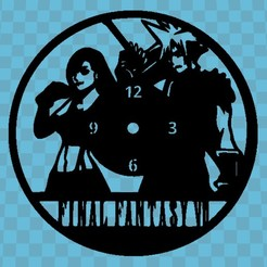 final fantasy.jpg Download free STL file FANTASY END CLOCK • 3D printing object, 3dlito