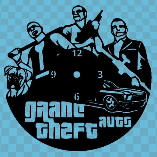 Imprimir en 3D Reloj Grand Theft Auto, 3dlito