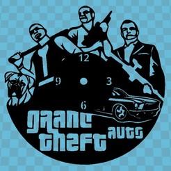 grand theft auto.jpg Télécharger fichier STL Montre Grand Theft Auto • Design pour imprimante 3D, 3dlito