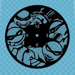 TORTUGAS NINJA.PNG Télécharger fichier STL MONTRE TORTUE NINJA • Plan pour impression 3D, 3dlito