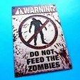 Télécharger fichier impression 3D gratuit placa Zombies v3 dibujo 3D, 3dlito
