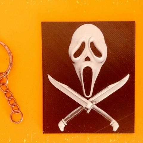 Free 3d printer designs Scream Keychain, 3dlito