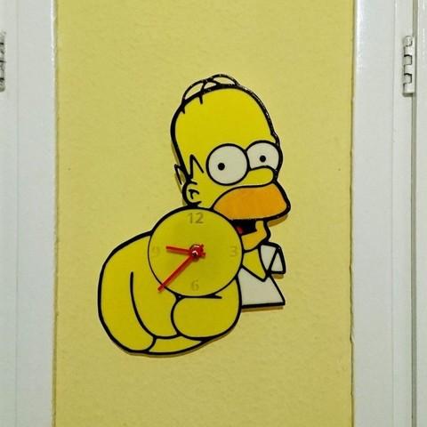 Download free 3D printer files Reloj Homer Simpson, 3dlito