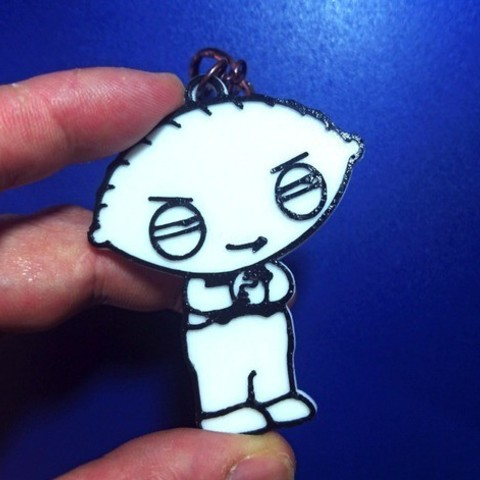 3dc27ff3ee62e7ee8f7bd14532ae2248_preview_featured.jpg Download free STL file Key ring Stewie Griffin • Object to 3D print, 3dlito