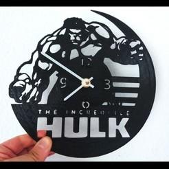 Impresiones 3D gratis Reloj HULK vinilo, 3dlito