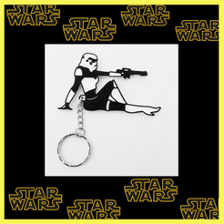 Download 3D printing designs Sexy Stormtrooper keychain, 3dlito