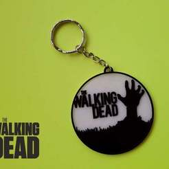 Download free 3D printer model keychain The Walking Dead, 3dlito