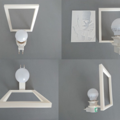 Download free 3D printing templates light support for LITOFANIAS, 3dlito