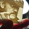 Download free 3D printer designs LITOFANIA KEY CHAIN Lemmy Kilmister, 3dlito