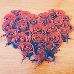 Free 3d printer designs DRAWING 3D Roses, 3dlito
