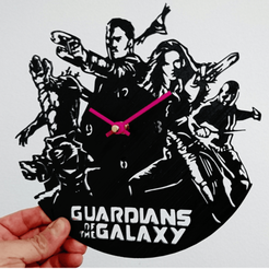 3D print files Guardians of the Galaxy wall clock, 3dlito