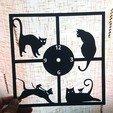 cb350dbb9af2ed617eac3e29d195bbfb_display_large.jpg Download free STL file Reloj de pared gatos • 3D printer template, 3dlito