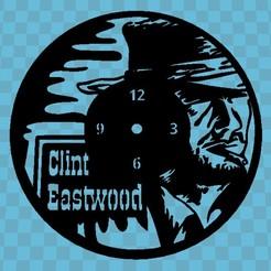 Download 3D print files CLINT EASTWOOD CLOCK, 3dlito