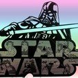 Plan imprimante 3D gatuit POCHOIR LOGO STAR WARS, 3dlito