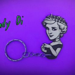 Free stl files Lady Di Keychain, 3dlito