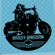 Descargar archivos 3D Reloj Harley-Davidson 2 vinilo, 3dlito