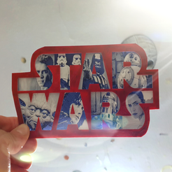 Download free 3D printing templates Placa Star Wars, 3dlito
