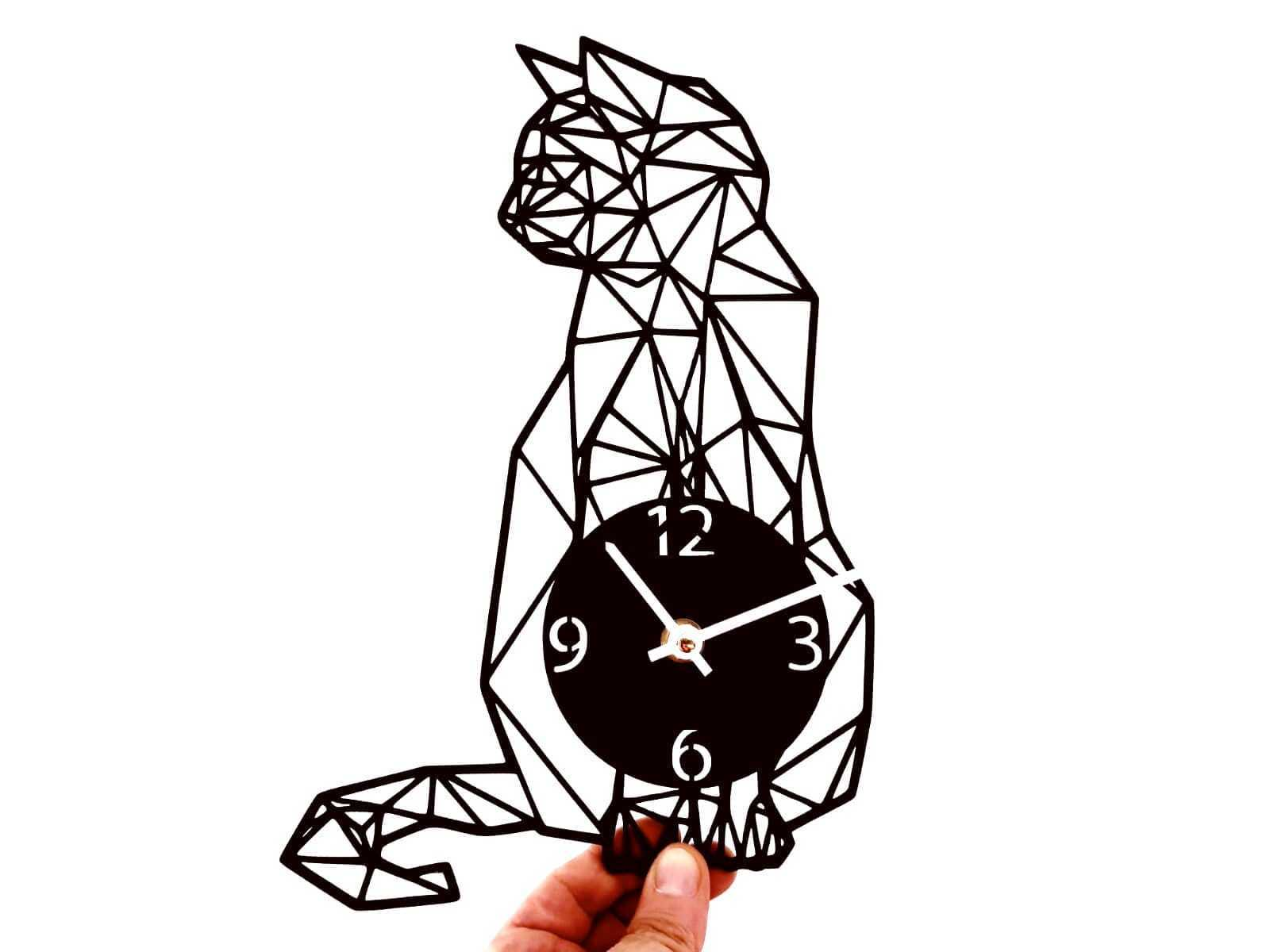 IMG-20180815-WA0073(1).jpg Download STL file Clock geometric cat • 3D printing design, 3dlito