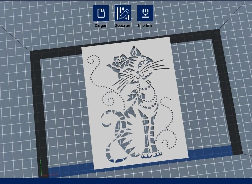 4b181b99b7d947fdd4cdd53455d1548f_display_large.jpg Download free STL file Cat Stencil • Template to 3D print, 3dlito