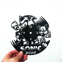 Modelos 3D Reloj SONIC, 3dlito